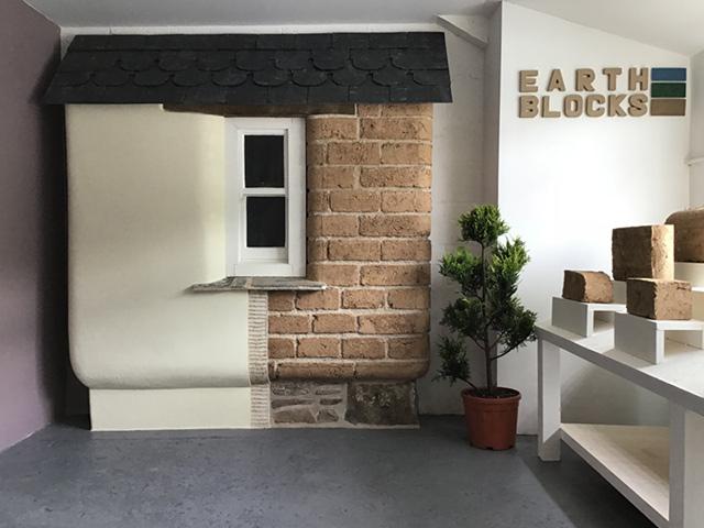 Cornish Cob Blocks Display
